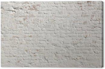 Obraz na Plátně White grunge cihlová zeď na pozadí