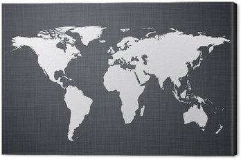 Obraz na Plátně White mapa světa.