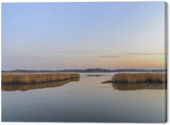 Obraz na Plátně Západ slunce a klidné moře