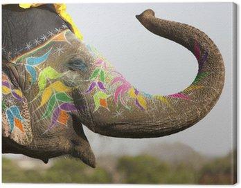 Obraz na Plátně Zdobené slon slona festivalu v Jaipur