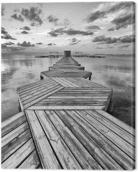 Obraz na Plátně Zig Zag dok v černé a bílé