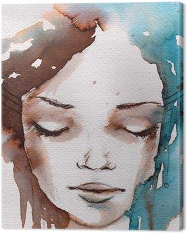 Obraz na Plátně Zima, zima portrét