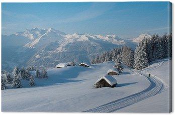 Obraz na Plátně Zimní turistika v Alpách