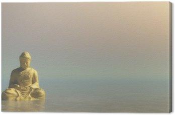 Obraz na Plátně Zlatý Buddha - 3D vykreslování