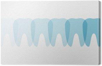 Obraz na Plátně Zuby - Ilustrace
