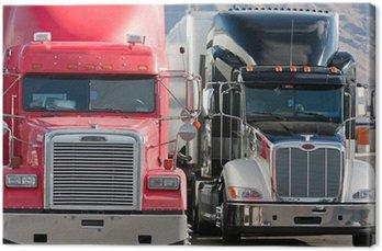 Obraz na Płótnie 2 ciężarówka flota dwie ciężarówki