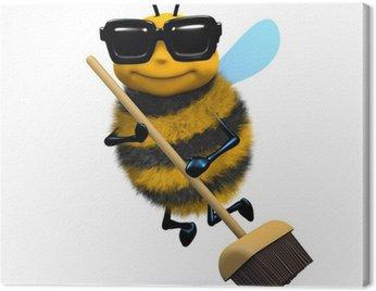 Obraz na Płótnie 3d Bee wymiata czyste nową miotłą