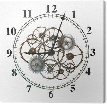 Obraz na Płótnie 3d Zegar z zębów na białym