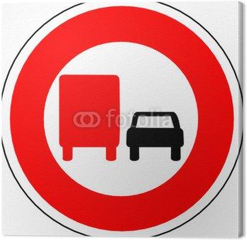 Obraz na Płótnie A0150 - Control zakaz DOUBLE TRUCK CAR