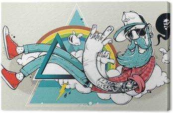 Abstract graffiti, hipster