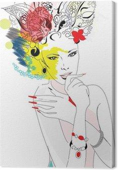 Abstract tajemnicza kobieta