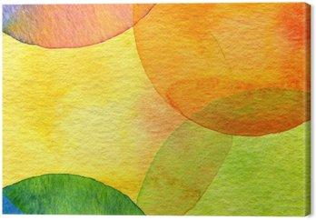 Obraz na Płótnie Abstrakcyjna akwarela malowane tła koło