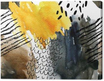 Abstrakcyjna Akwarele szwu w kolorach jesieni.