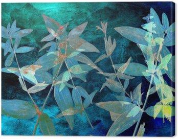 Obraz na Płótnie Abstrakcyjna Akwarele tła i gałęzi roślin. Różne środki przekazu