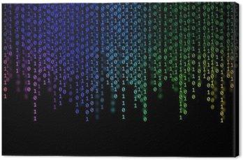 Obraz na Płótnie Abstrakcyjna Rainbow Kod binarny