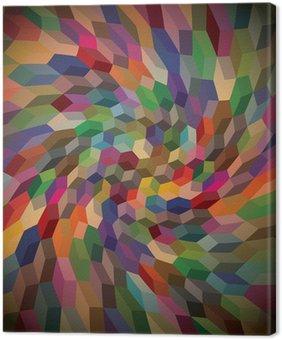 Obraz na Płótnie Abstrakcyjna tła z kręcone kostek, ilustracji
