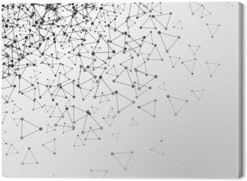 Obraz na Płótnie Abstrakcyjna tła z kropkami siatki i komórki trójkątne. ilustracji wektorowych