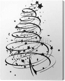 Obraz na Płótnie Abstrakcyjne drzewo z cząstką
