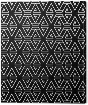 Obraz na Płótnie Abstrakcyjne geometryczne czarno-białe hipster wzór mody poduszki
