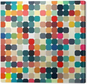 Obraz na Płótnie Abstrakcyjne geometryczne retro wzór dla projektu