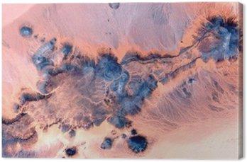 Obraz na Płótnie Abstrakcyjne pejzaże pustyniach Afryki, streszczenie Naturalizm, abstrakcyjna stock pustynie Afryki z powietrza, abstrakcyjnego surrealizmu, miraż na pustyni, ekspresjonizmu abstrakcyjnego,