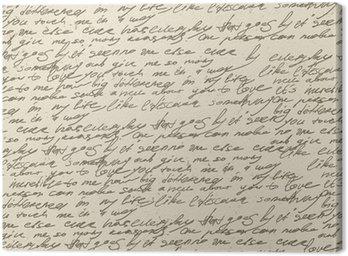 Obraz na Płótnie Abstrakcyjne pisma na starym zabytkowe papierze. wzór powtarzalne, vec