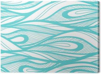 Obraz na Płótnie Abstrakcyjne ręcznie rysowane ilustracja, tło fale.