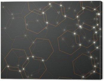 Obraz na Płótnie Abstrakcyjne tło komórek sześciokątnych, geometryczne projektowania ilustracji wektorowych eps 10
