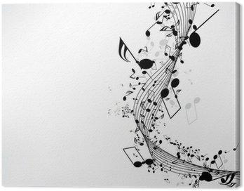 Obraz na Płótnie Abstrakcyjne tło muzyczne z nutami