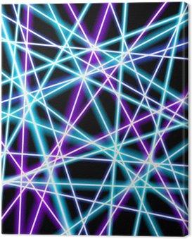 Obraz na Płótnie Abstrakcyjne tło wektor, bardziej świecące linie, geometria, technologia, neon tapety