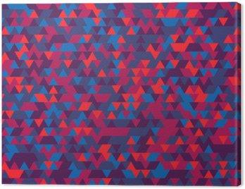 Obraz na Płótnie Abstrakcyjne tło z trójkątów. Gradacja fioletu. Fioletowe barwy.