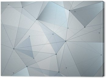 Obraz na Płótnie Abstrakcyjny, geometria, linie i punkty