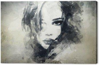 Obraz na Płótnie Abstrakcyjny portret kobiety