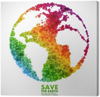 Obraz na Płótnie Abstrakcyjny symbol Ziemia - globalne ocieplenie koncepcji