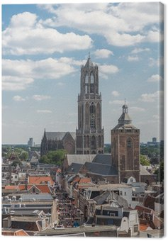 Obraz na Płótnie Aerial miejskiego średniowiecznego miasta Utrecht, Holandia