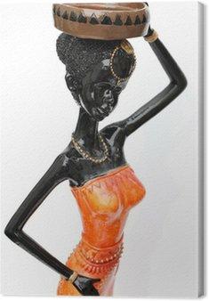 Obraz na Płótnie Afrykański statuetkę chudy białym tle