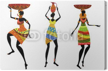 Afrykańskie kobiety w tradycyjnych strojach