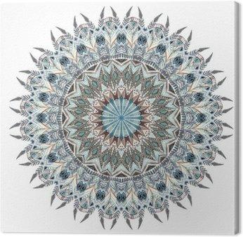 Obraz na Płótnie Akwarela abstrakcyjny mandala z stylizowane piór