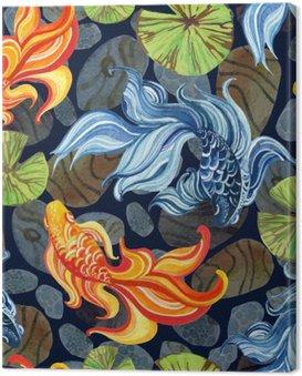 Akwarela asian goldfishes