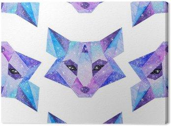 Obraz na Płótnie Akwarela kosmiczne zwierzęta. Ręcznie rysowane ilustracji