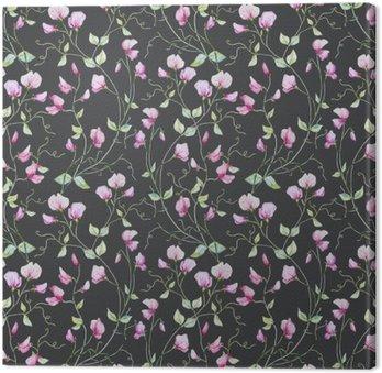 Obraz na Płótnie Akwarela kwiaty wzór