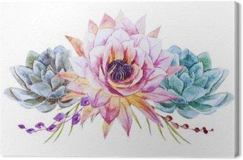 Obraz na Płótnie Akwarela lotus