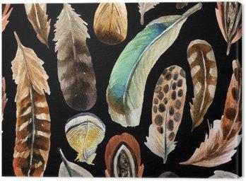 Obraz na Płótnie Akwarela, tło pióro