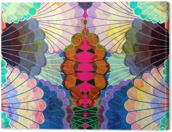 Obraz na Płótnie Akwarela wielokolorowe elementy abstrakcyjne