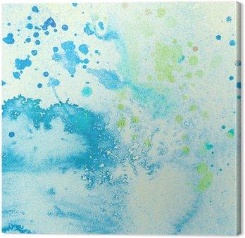 Obraz na Płótnie Akwarele malowane niebieskie plamy