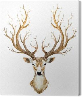 Obraz na Płótnie Akwarele ręcznie rysowane jelenia