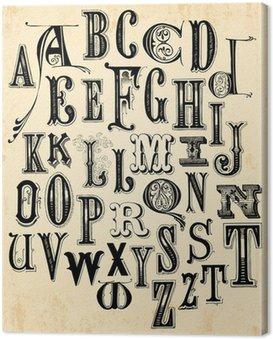 Obraz na Płótnie Alfabet archiwalne
