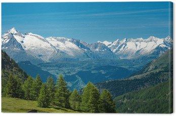 Obraz na Płótnie Alp Europejskiego. panorama z wysokich gór