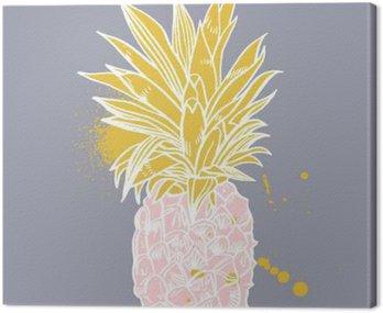 Ananas owoców tropikalnych. obiekt wektorowy.