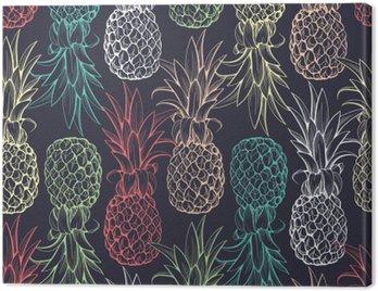 Obraz na Płótnie Ananasy szwu